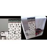 Saturday Knight Cosmo Fabric Shower Curtain White Black Jane Kitching Fa... - $16.80