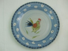 "Royal Norfolk 10 3/4"" Dinner Plate Rooster Warm Red Green Blue - $12.82"