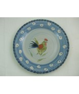 """Royal Norfolk 10 3/4"""" Dinner Plate Rooster Warm Red Green Blue - $9.95"""