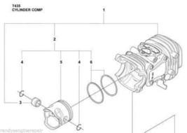 Husqvarna 523084301, 523 08 43-01 Piston & Cylinder kit assy New OEM T435 T 435 - $299.99