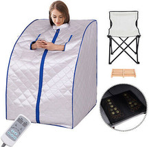 Portable Home Sauna Far Infrared Hot Spa Body Slimming Loss Weight Detox... - $254.37