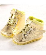 Unisex Golden Wings Baby Boy Girl Toddler Crib Shoes  - $18.99