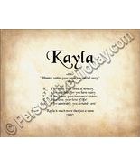 Kayla Hidden Within Your Name Is A Special Stor... - $8.95