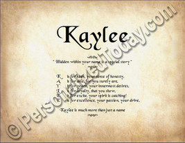 Kaylee Hidden Within Your Name Is A Special Story Letter Poem 8.5 x 11 P... - $8.95