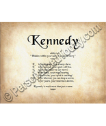 Kennedy Hidden Within Your Name Is A Special St... - $8.95