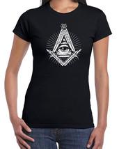 226 Illuminati womens t-shirt free mason secret society elites All Sizes... - $15.00