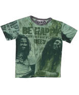 a Men T Shirt short sleeve green 100% cotton personalized rasta om Reggae L WEED - $19.79