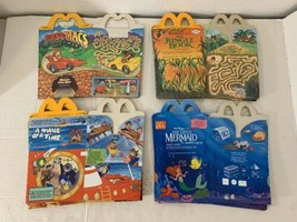 11 Total New and Unused McDonald's Happy Meal & Wendy's Kids Meal Boxes ... - $34.25