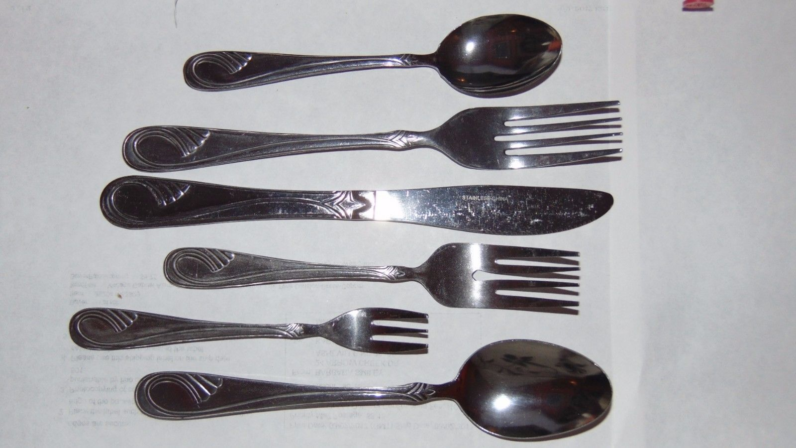 Vintage New Stainless Flatware 65 Pieces Set 6 Piece Hostess Set Included-Crafts