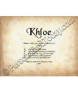 Khloe Hidden Within Your Name Is A Special Stor... - $8.95