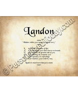 Landon Hidden Within Your Name Is A Special Sto... - $8.95