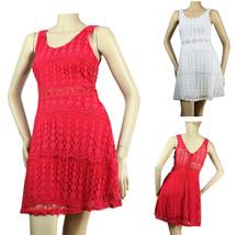 Cute All Body Lace Scoop Neck DRESS Lining,Stretch Deep Open Back Dress ... - $29.99