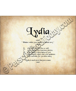 Lydia Hidden Within Your Name Is A Special Stor... - $8.95