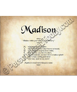 Madison Hidden Within Your Name Is A Special St... - $8.95