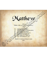 Matthew Hidden Within Your Name Is A Special St... - $8.95
