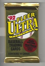 1992 Fleer Ultra Baseball Wax Packs - Unopened Lot of 2 - $2.96