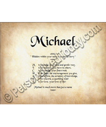 Michael Hidden Within Your Name Is A Special St... - $8.95