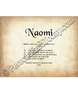 Naomi Hidden Within Your Name Is A Special Stor... - $8.95