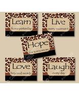 Leopard Cheetah Print Wall Art Decor Inspirational Quote Girl bedroom Lo... - $19.99