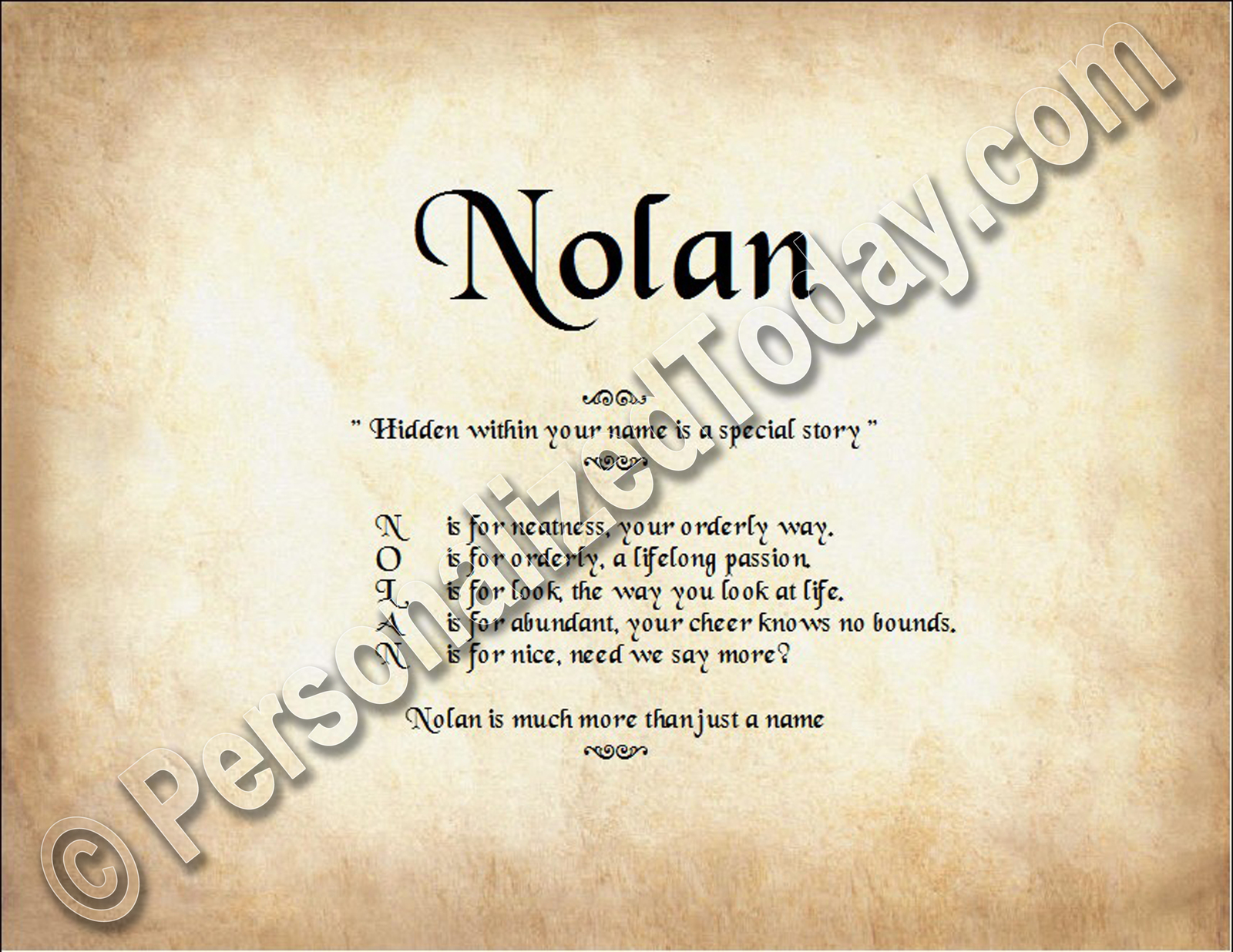 Nolan name story wm