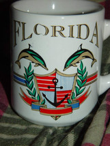 Florida Coffee Cup W/ Two Dolpins - $12.00