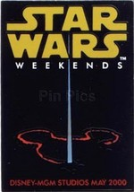 Disney MGM Star Wars Weekend Light Sabre Logo no backer card Pin - $36.48
