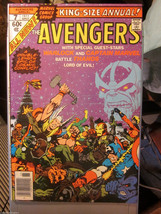 AVENGER ANNUAL #7 JIM STARLIN -ADAM WARLOCK; THANOS 1977 Capt. Marvel Co... - $240.00