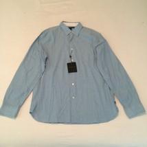 John Varvatos Blue Topaz Slim Fit Shirt Sz L NWT Retail $128.00 - $49.49