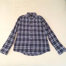 Michael Kors Navy Rawls Check Tailored Shirt Sz M NWT retail $ 175.00 - €55,68 EUR