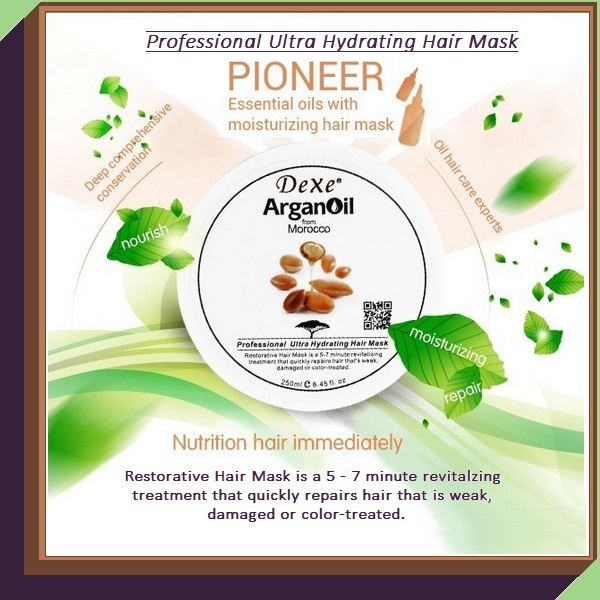 Morocco ArganOil Revitalizing Restorative Professional Ultra Hydrating Hair Mask