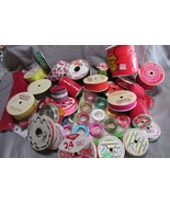 Approximately 25 Pieces Ribbon Spools From Old Christmas Box, 1950's-1980's - $30.84