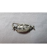 Vintage Double Fish Pin Entwined in Rope or Line, Silver Toned, Very Nic... - $16.82