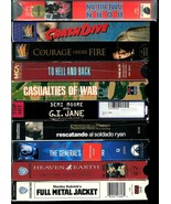 VHS  TAPES *LOT OF 10 CLASSIC WAR MOVIES*  FORMER RENTALS, IN VERY GOOD ... - $16.99