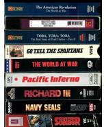 VHS  TAPES * 9  WAR MOVIES *  RICHARD III, NAVY SEALS, PACIFIC INFERNO, ... - $17.99