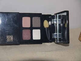 Estee Lauder Signature  Eye Shadow Quad Mirrored Compact w/Brush NEW  - $18.66