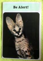 "Vintage Hallmark Greeting Card Animal Fun ""Be Alert!"" Lert Serval (?) ki... - $3.87"