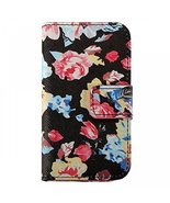 Floral Ultra Thin Pu Leather Flip Wallet Card Stand Case for Iphone 4 4s... - $8.99