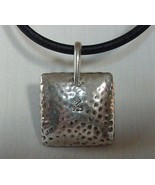 MODERNIST VINTAGE POUNDED OR HAMMERED .925 SILVER PENDANT NECKLACE SILPA... - £57.35 GBP