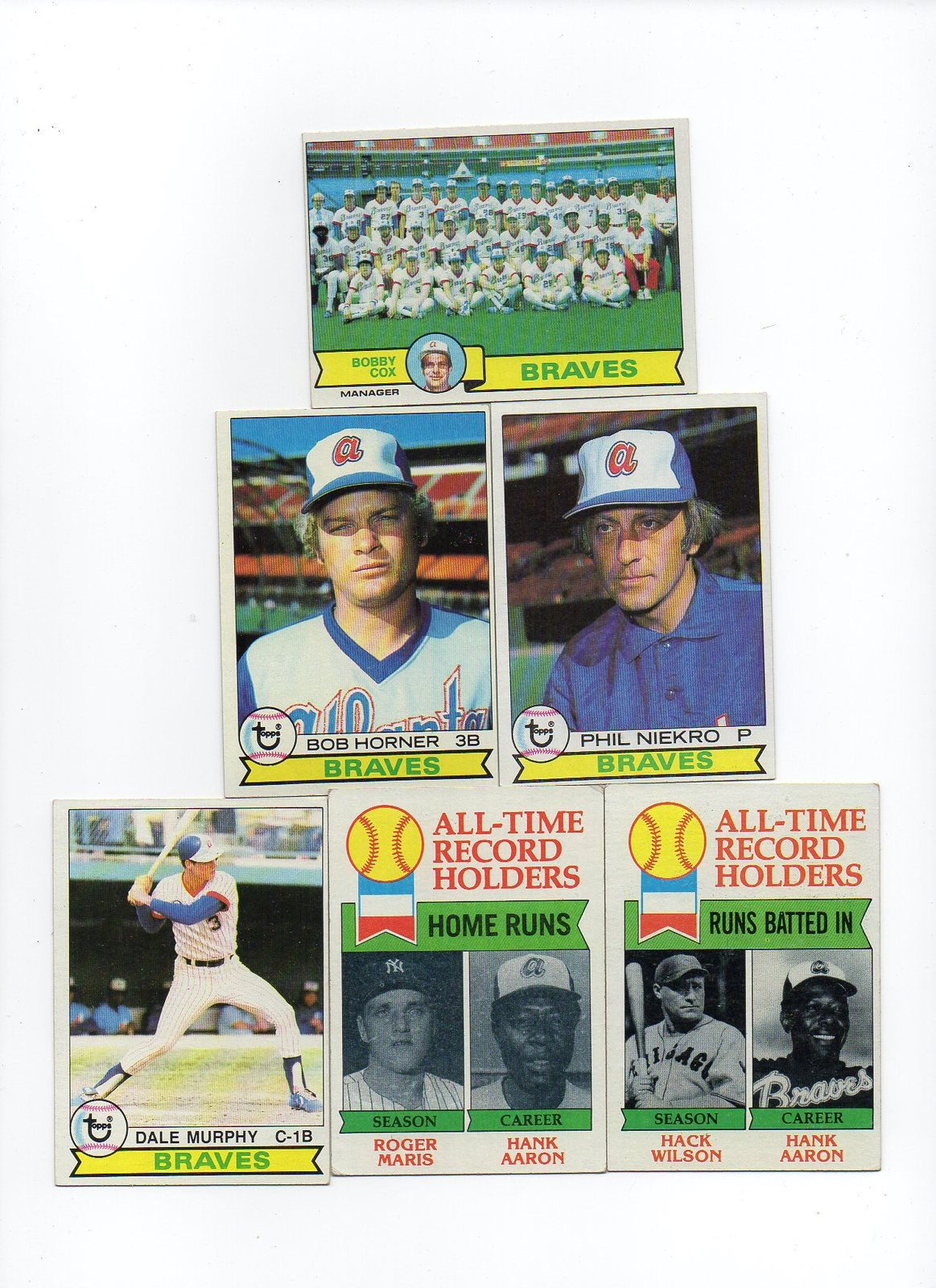 1979 Topps Atlanta Braves Team Set With Phil Niekro, Dale Murphy, and Aaron