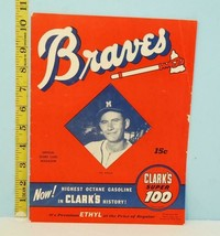 1953 Milwaukee Braves Score Card Sept. 11 Joe Adcock Cover Clark's Super... - $54.45