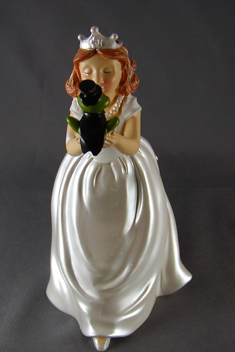 Princess and Frog Cake Topper Figurine Fairytale Wilton ...