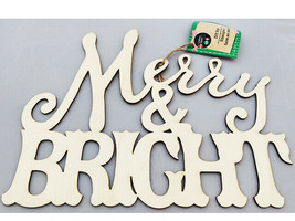 """Greenbrier """"Merry & Bright"""" Wood Sign #296663-1906"""
