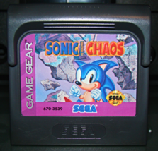SEGA GAME GEAR - SONIC THE HEDGEHOG CHAOS (Game Only) - $8.00