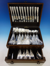 Queen Anne Rattail English Silverplated & Stainless Flatware Set Service 77 pcs - $2,389.73