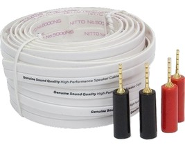 General Electric 30 feet High Performance Flat Speaker Wire with 2 Pairs... - $14.99