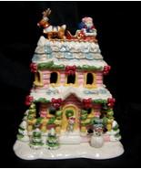 Avon A Visit From Santa Tealight House Luminous Treasures 2002 - $35.63