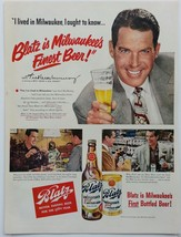 Blatz Beer Ad with Fred MacMurray & Chesterfield Ad with Four 1950's Sta... - $7.50