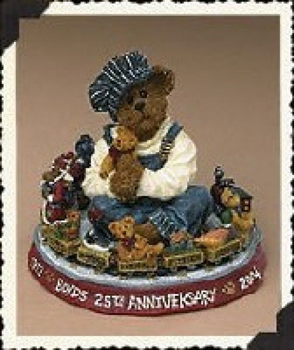 "Primary image for Boyds Bearstone ""Choo-Choo McBear""  #227714-  1E- NIB- 1999- Retired"
