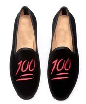 Mens black velvet loafer 100 embroidered slippers, Handmade Mens velvet shoes - $139.99