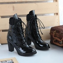 95345 Sweet Matin Booties, patent leather, Extra size (34-43), BLACK - $103.00